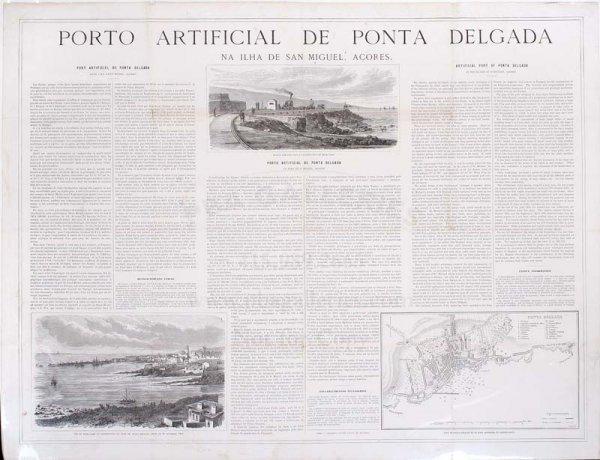 2005: Broadside describing Azores port c.1866