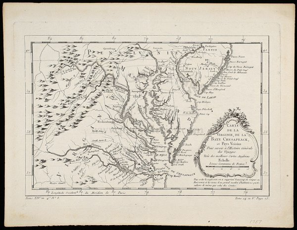 2008: Bellin map of Virginia and the Chesapeake 1757