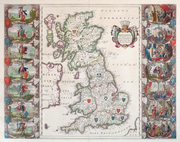 2010: Blaeu's Britannia, 1645, with pictorial panels