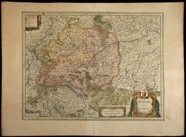 2014: Blaeu map of southwest Germany c.1630