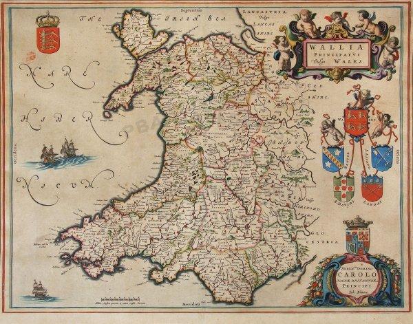 2015: Blaeu map of Wales, c.1648