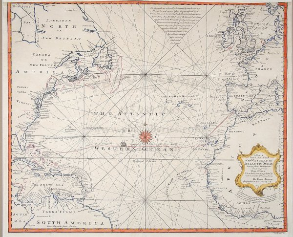 2019: Bowen chart of Atlantic Ocean 1744