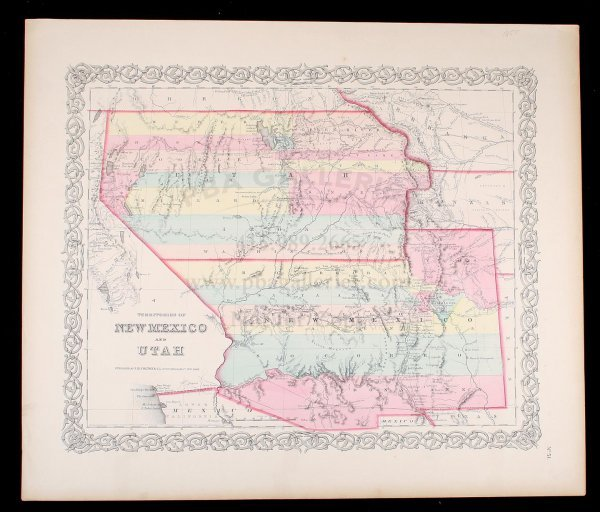 2034: Colton map of New Mexico and Utah 1855