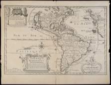 2040 De Fers map of America with California an Island