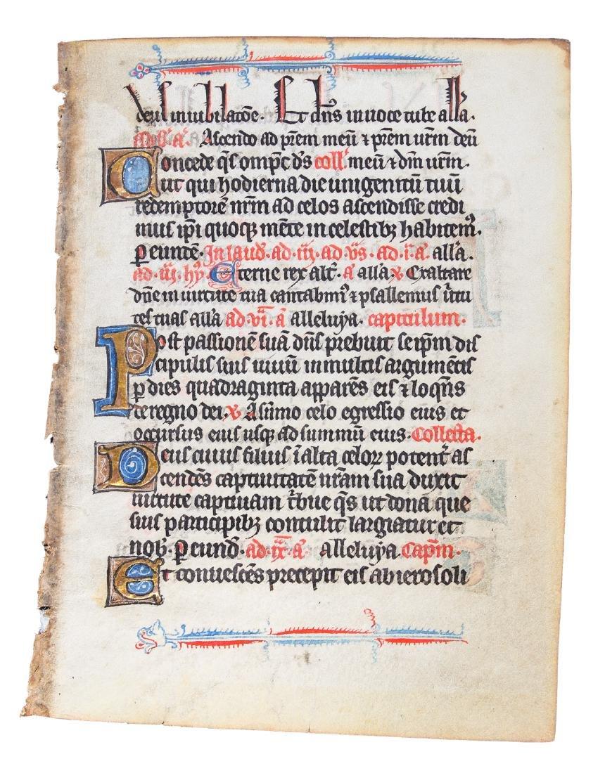 Illuminated manuscript leaf on vellum