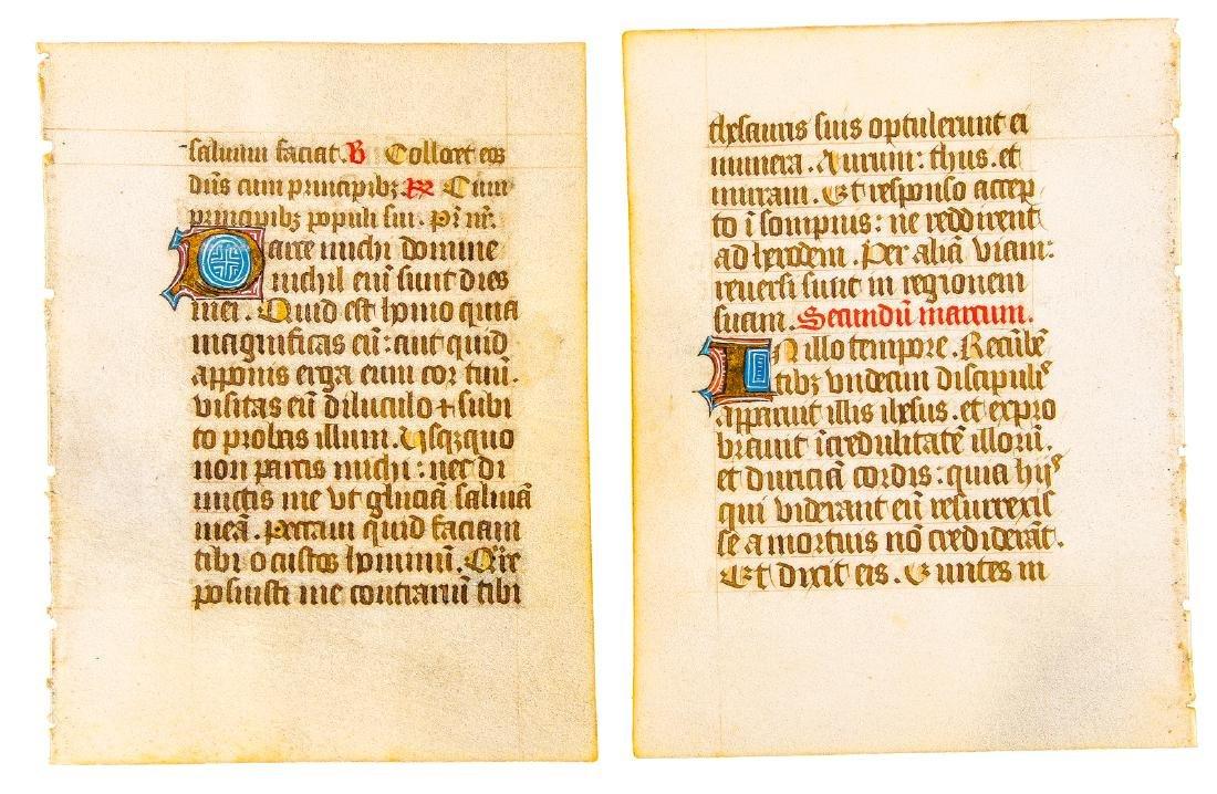 Pair of illuminated manuscript leaves