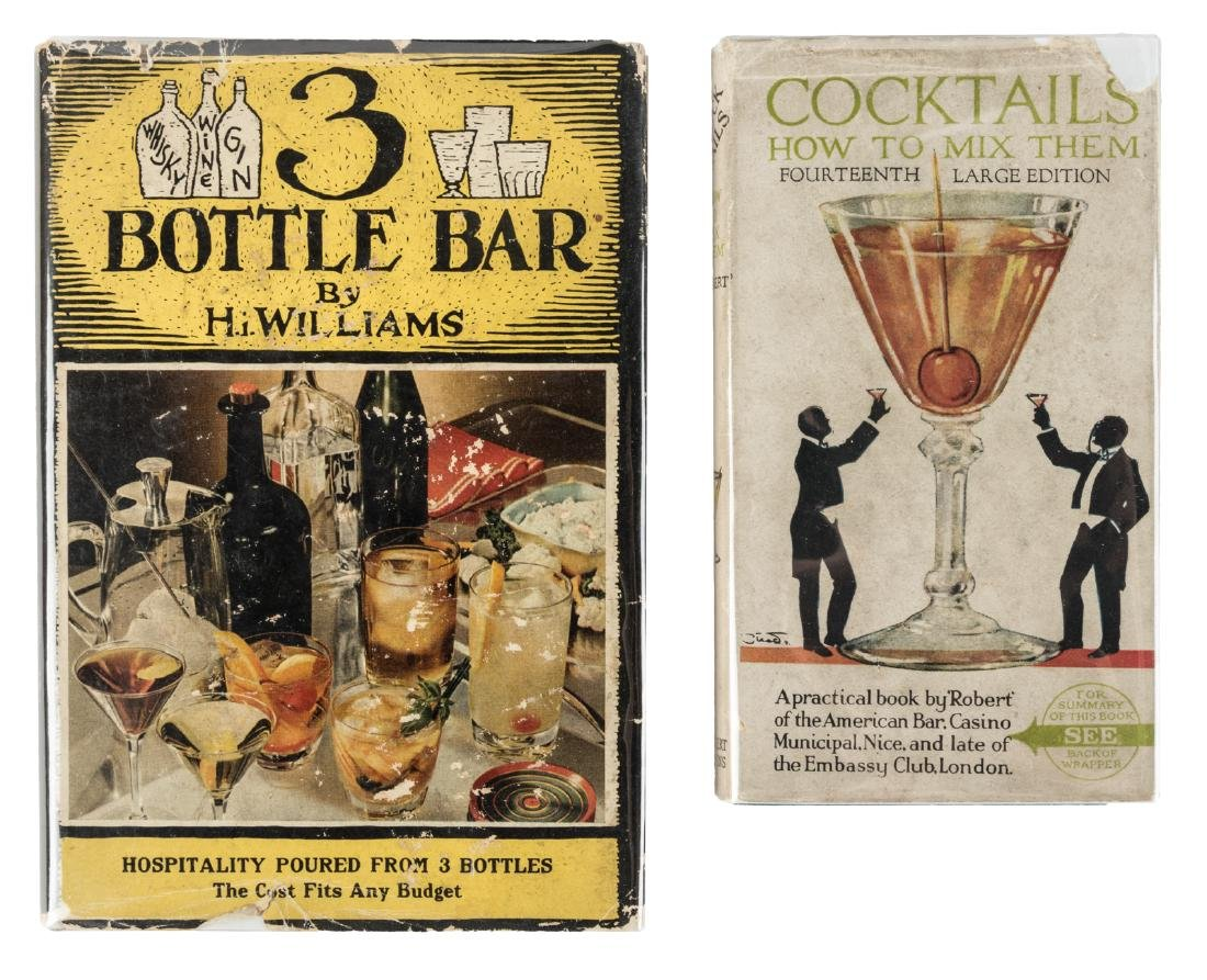 Two 1940's Cocktail Books