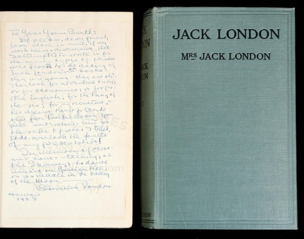 3017: Jack London by Charmian London inscribed