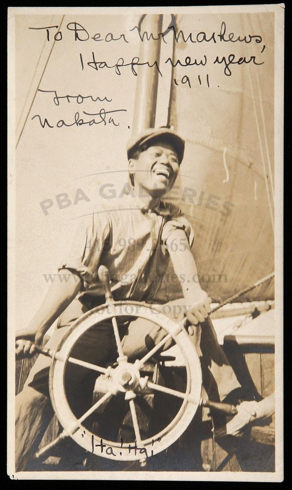 3122: Jack London's servant Nakata, signed photo