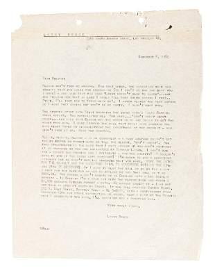 Lenny Bruce writes to Melvin Belli