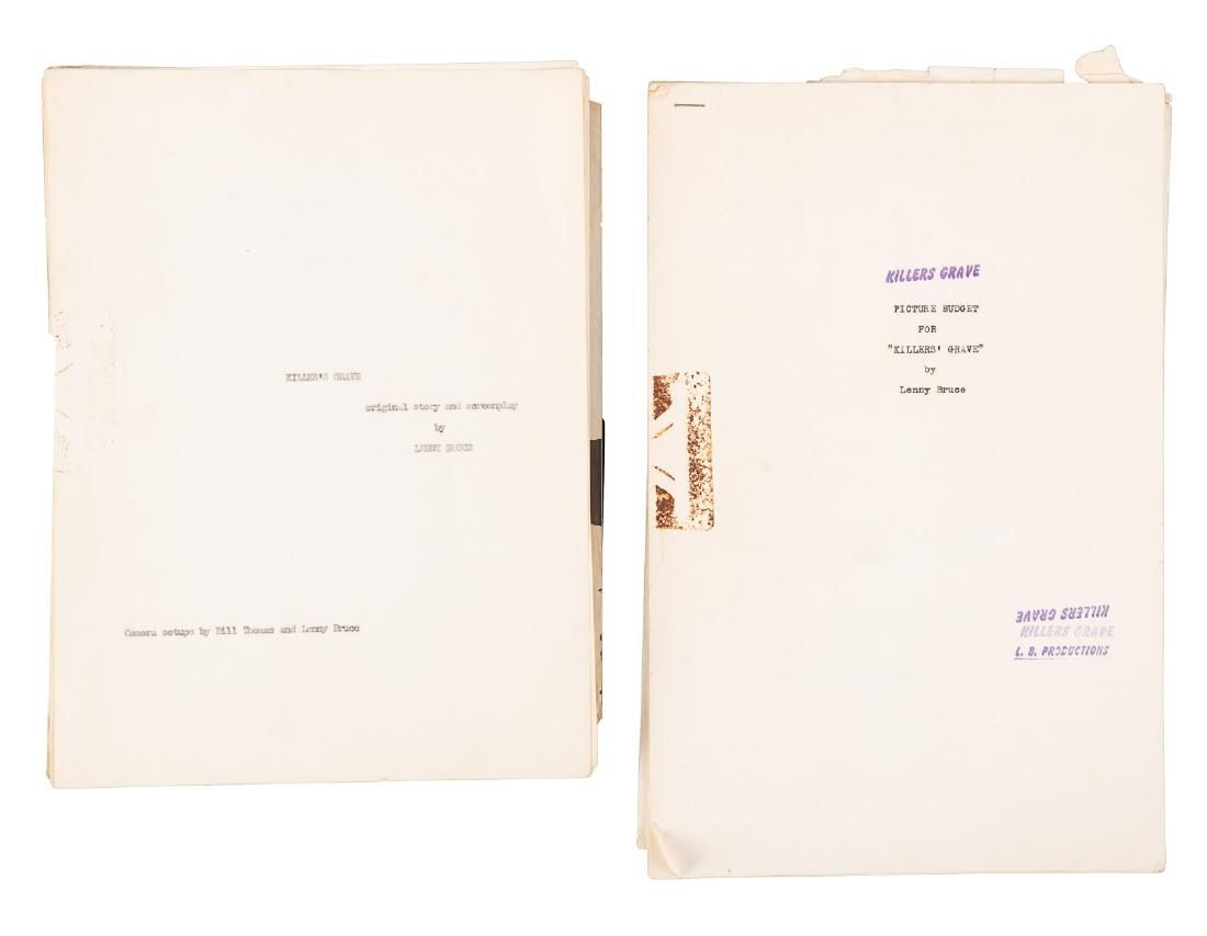 Carbon typescript for Lenny Bruce screenplay