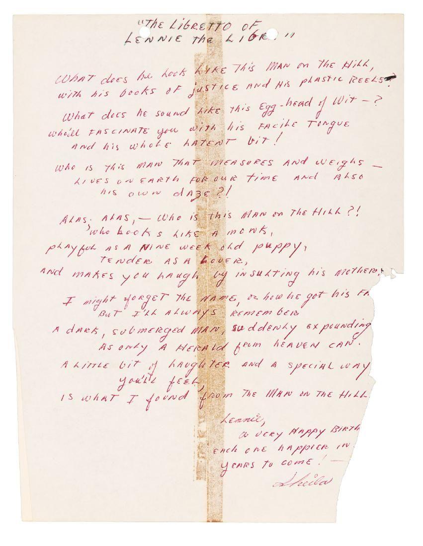 Birthday poem to Lenny Bruce