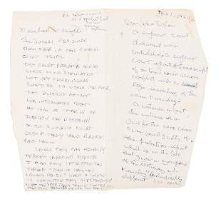Lenny Bruce writes about error in trial 1964