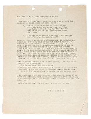 Lenny Bruce writes to heroinbust cops