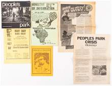 Materials related to radical movements in the Bay Area