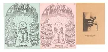 Bedrock One psychedelic handbills R.Crumb art 1967