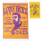 Fillmore poster for Lenny's last shows