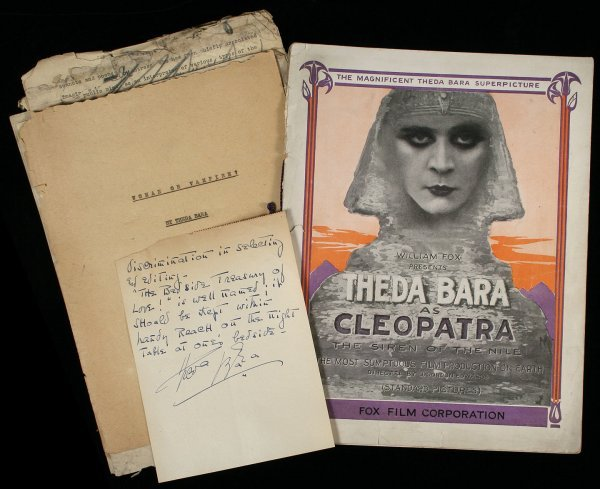 10: Archive of Silent Movie Star Theda Bara