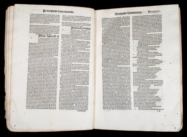 22: 15th century printing of St. Bonaventura