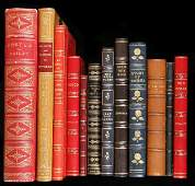 78 Lot of 12 finely bound volumes