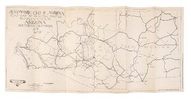 Early road map of Arizona & New Mexico