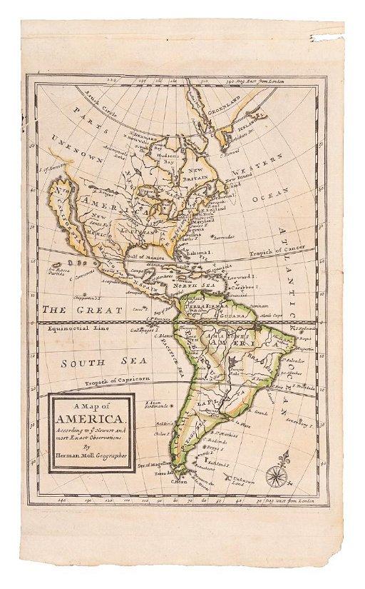 Moll Map With California An Island 1708