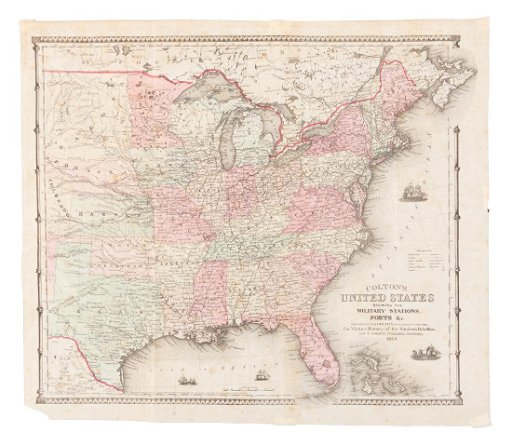 Colton\'s Civil War map of the United States 1862