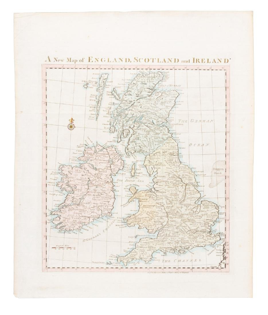 Map of British Isles for Rapin's History