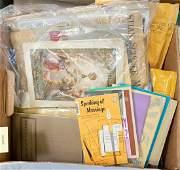 Box of Irish Catholic related ephemera