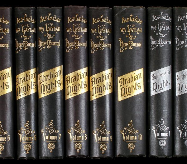 2: Burton, Arabian Nights, 16 vols., illustrated Ltd