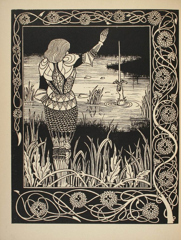 10: King Arthur by Thomas Mallory, Beardsley Illus.