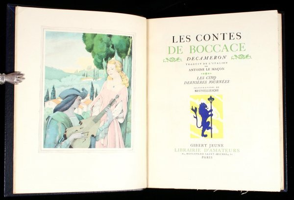 13: Les Contes De Boccace, Decameron, 2 vols.