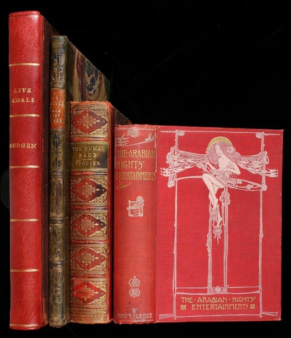 20: Lot of 4 books illustrated with chromolithographs