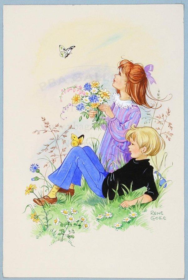 23: Original watercolor by Rene Cloke