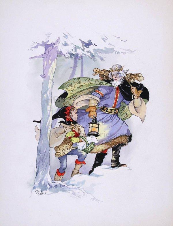 24: Original watercolor by Rene Cloke