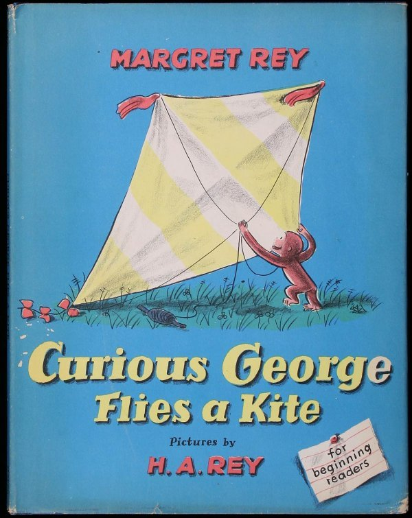 166: Curious George Flies a Kite, 1st Ed. in jacket