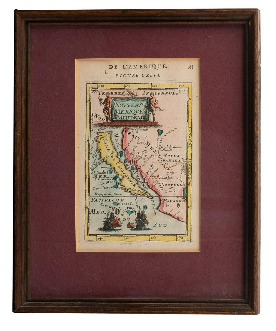 Mallet map of island of California 1683