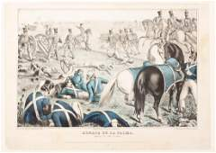 Early depiction of the Mexican war and battle in Texas
