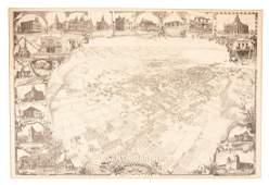 Bird's-eye view of Santa Barbara in 1898