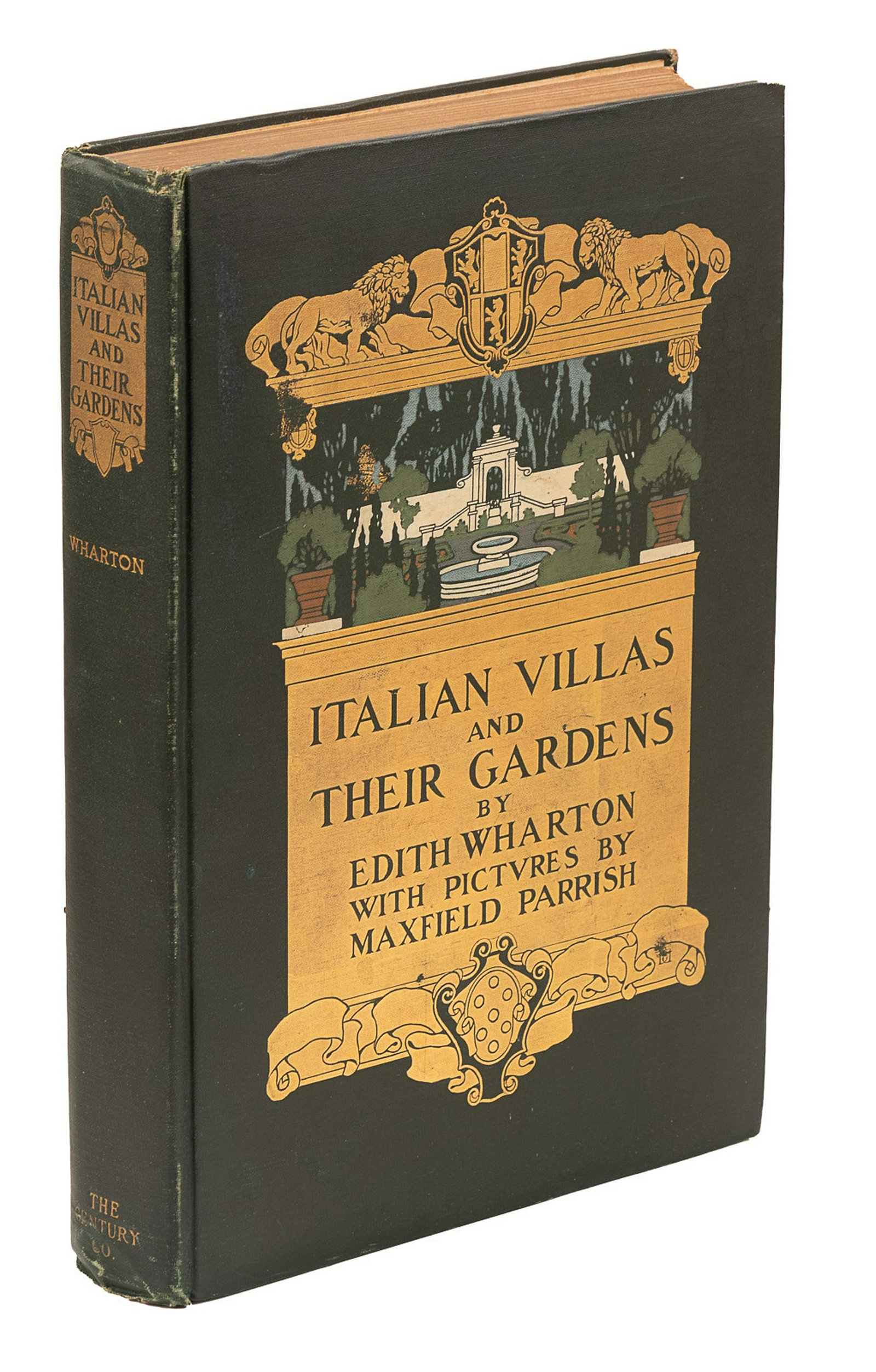 Wharton's Italian Villas w/Maxfield Parrish 1904 1st