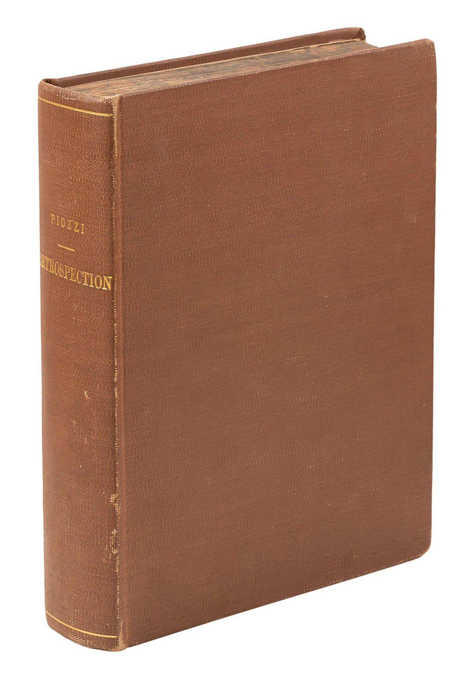 Hester Lynch Piozzi's Retrospection 1st ed.