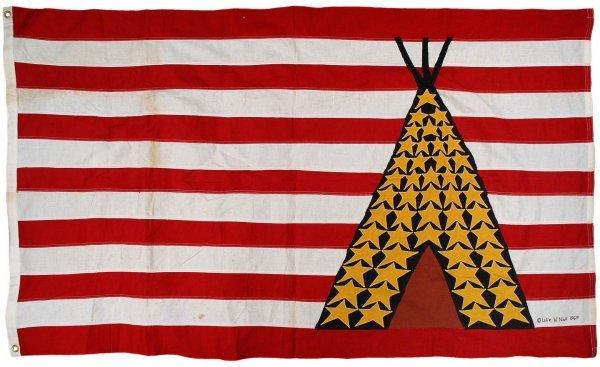 Flag that flew over Native American-occupied Alcatraz