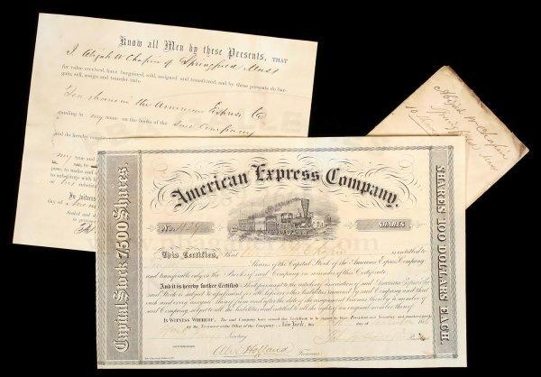 1003: Amer. Exp. Stock Certificate sgd. Fargo, Holland