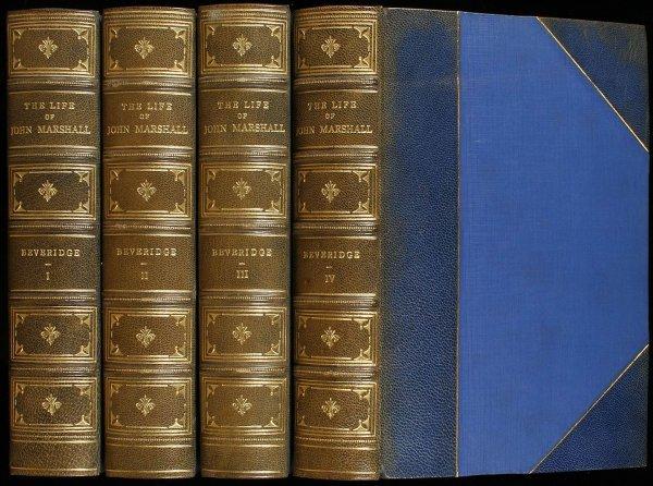 1013: Beveridge's Life of John Marshall Finely Bound