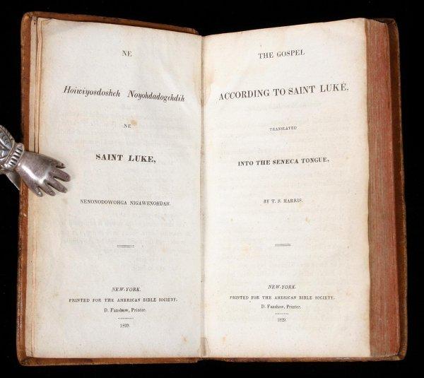 1014: Gospel of St. Luke in Seneca 1829