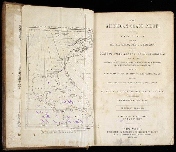 1016: Blunt's American Coast Pilot 1863