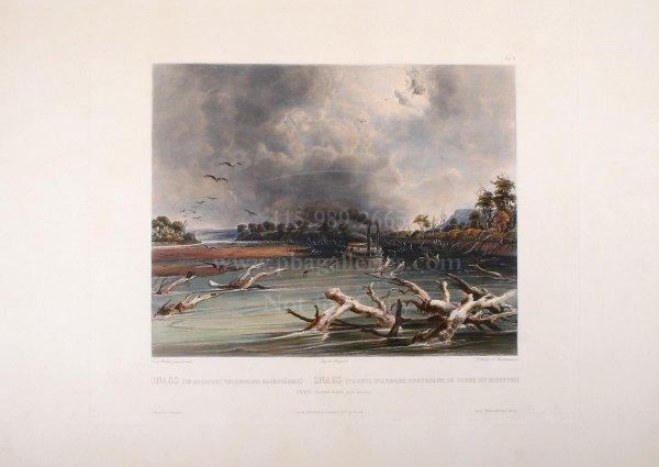 1017: Bodmer aquatint of Missouri River