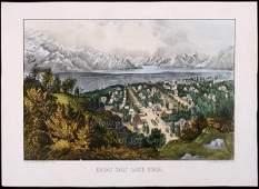 1049 Currier  Ives litho of Great Salt Lake Utah