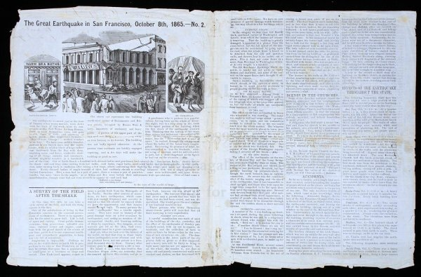 1178: 1865 California Earthquake Letter Sheet