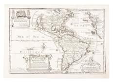 North and South America with California an island 1700